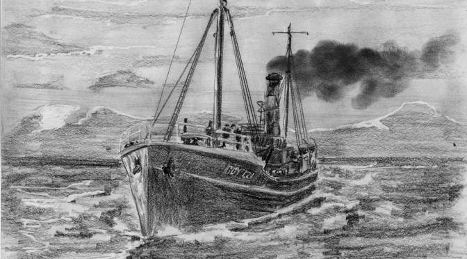 Statki Radka-rysunki statków wykonane przez rybaka dalekomorskiego