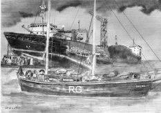 s/y Maria W tle trawler Gryfu