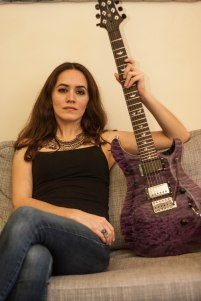 """""""Lotty"""" was named after Mosahefu's beloved grandmother, Lotty Fuentes. The pickups are currently EMG 81/85. Upgrades include ebony knobs, ebony button Schaller tuning machines and a custom made PRS truss rod cover."""