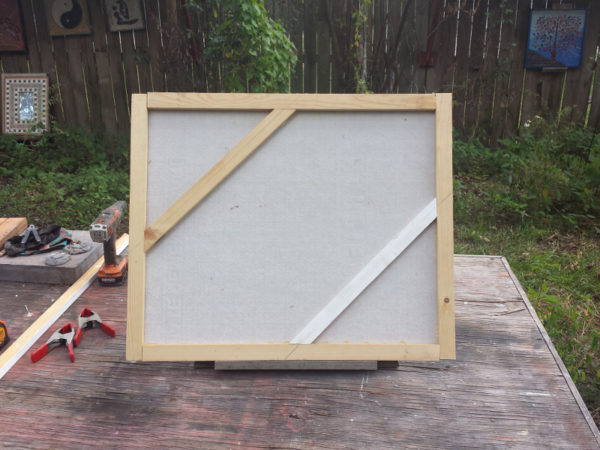 framed cement board to mount mosaic art
