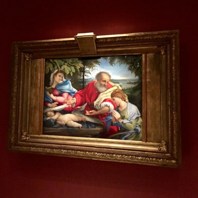 Lorenzo Lotto, The Rest on the Flight into Egypt with Saint Justine, 1529-1530