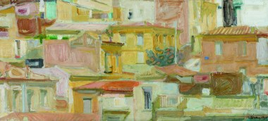 Panayiotis Tetsis Athens landscape 1960 Oil on canvas Bank of Greece Art Collection