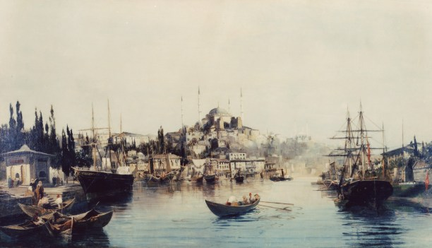 Constantinos Volanakis At the Golden Horn, 1892 Oil on canvas 80Χ130 εκ. Alpha Bank Collection