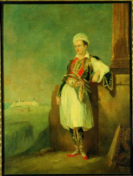 Portrait of Lord Byron (1788-1824), in Greek dress. Oil painting. ©Benaki Museum of Greek Culture