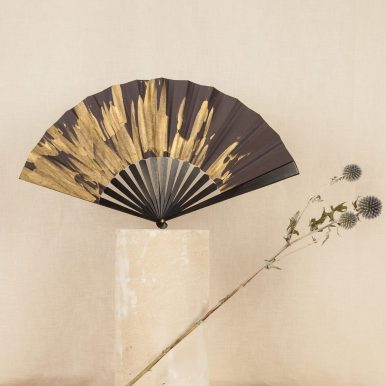 P. 175 Gold fan, silk heightened with gold paint and ebony (conteporary) c Andy Julia