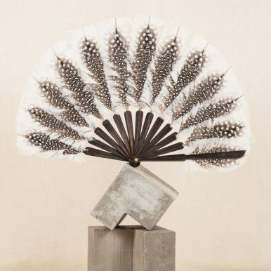 P. 224 Fan consistinf of guinea fowl feathers, ostrich feather blandes, and ebony(contemporary) c Andy Julia