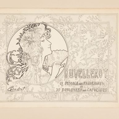 p. 84 Duvelleroy advertising project, by Gendrot, circa 1906 (archives) c Andy Julia