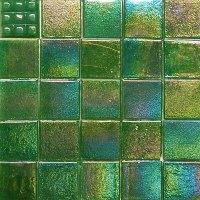 3/4-inch Iridescent Glass Mosaic Tiles Kaleidoscope