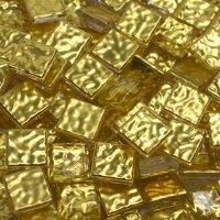 24kt Gold Mosaic Glass WAVY 10mm (3/8 Inch) 10 Tiles