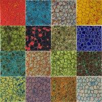 Mottled Glazed Ceramic Tiles Break-Off Sheets