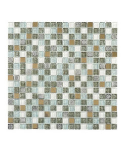 Bathroom Diy Beach Decor Gl Mosaic Subway Tiled Clear Door Shower Room Brown Wall