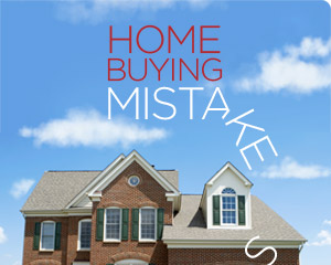 poster of a beautiful home with the text home buying mistakes