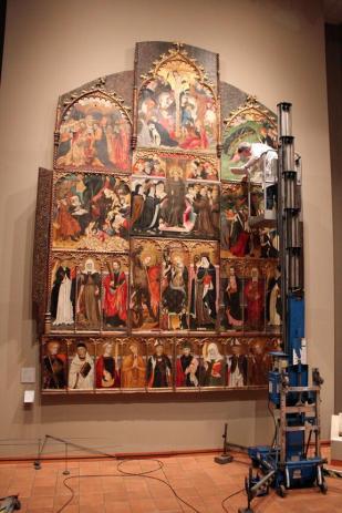 restauració al museu de Vic