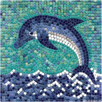 Dolphin with Ceramic Tiles - Mosaic Craft Kit - Artist ...