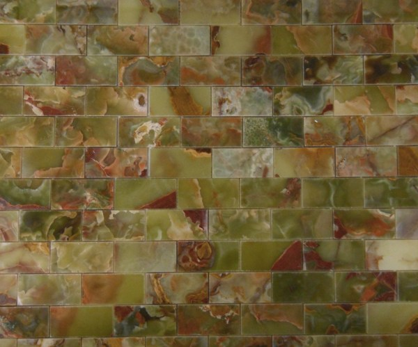 Dark Green Onyx Mosaic Tiles