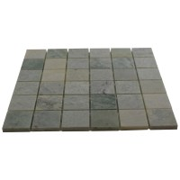 Bianco White Carrara Marble 2x2 Square Pattern Honed ...