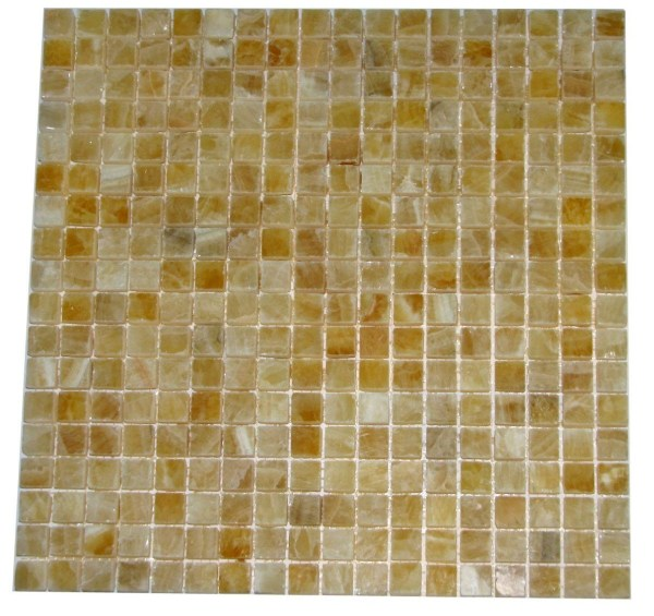 Premium Quality Honey Onyx Polished 5 8x5 8 Mosaic Tiles