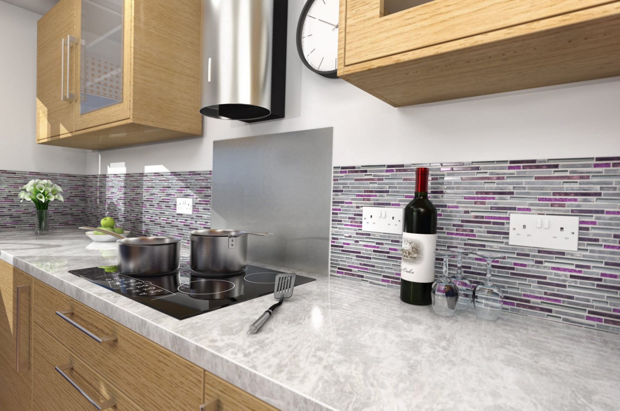 kitchen mosaic aid kettle tiles village