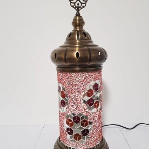 Lampe cylindrique XXL rouge
