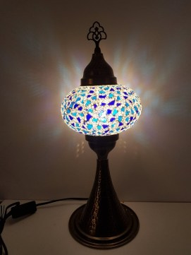 Lampe de table allongée mosaïque artisanale