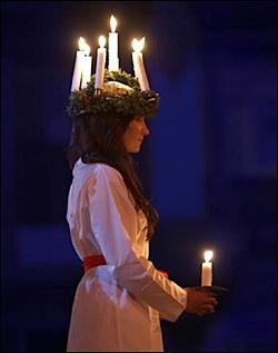 Fête de la lumière, Sainte Lucie, Laponie
