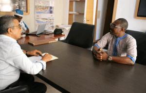 Mr Kaba Diakité à droite en entretien à Casa avec Mr Kamal Mekouar, PDG du Group Itqane.