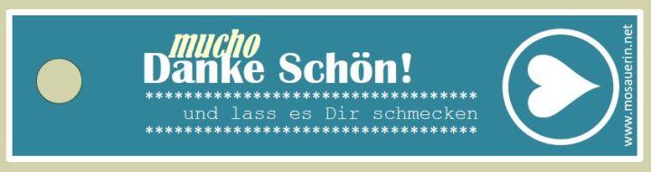 """Free Printable: """"Mucho Danke Schön!"""" Anhänger für Selbstgemachtes"""