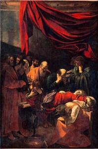 """Tableau - """"Mort de la vierge"""" par le Caravage"""