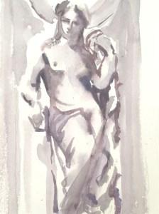 Peindre à l'aquarelle dans le semi mouillé