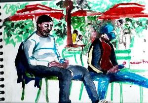 Cours dessin et aquarelle aux Tuileries