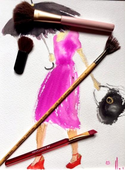 Mes pinceaux de maquillage et Beaux Arts