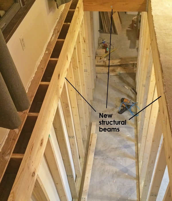 How To Move A Stairwell Mosby Building Arts Right Bath | Cost To Replace Basement Stairs | Hardwood | Stringer | Spiral Staircase | Stair Railing | Bulkhead