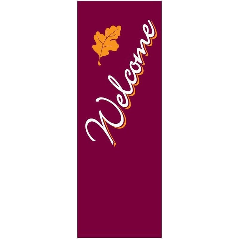 Welcome Fall 042155B fall winter holiday banner