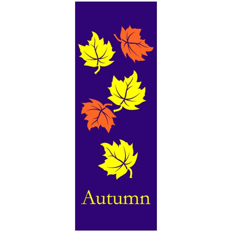 982401 Falling Leaves fall winter holiday banner