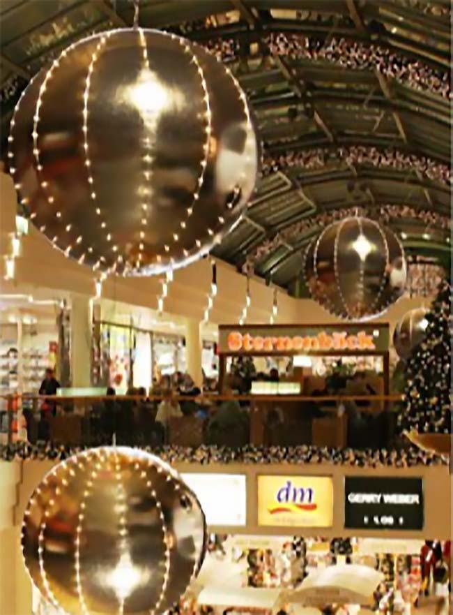 Giant Lighted Hanging Ornament 2
