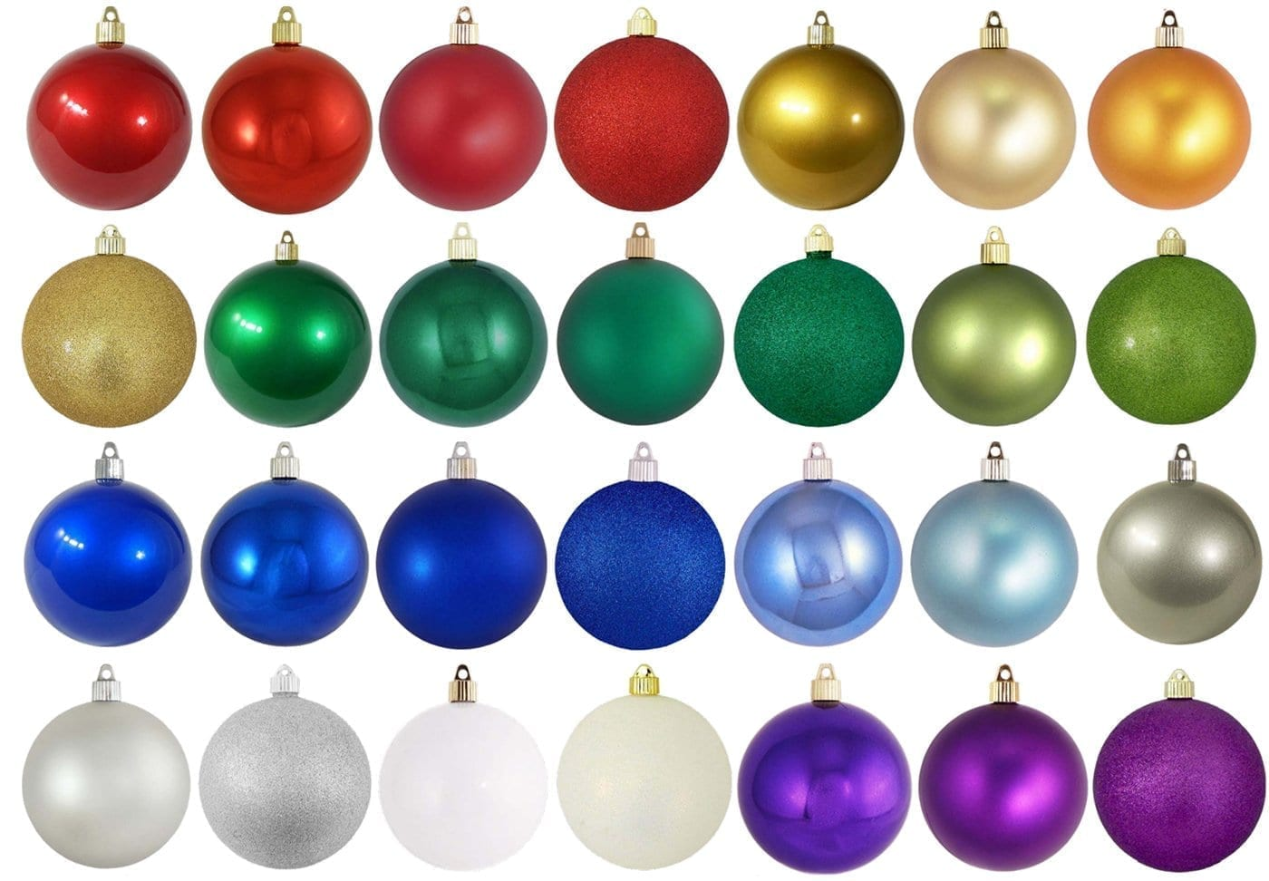 100mm Shatterproof Ornaments specialty Colors