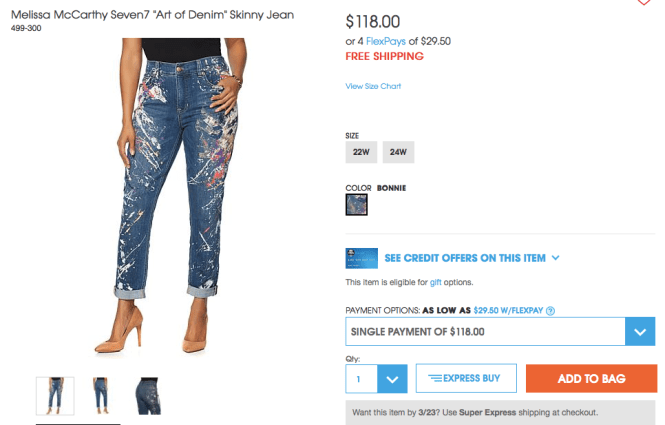paint splattered jean trend
