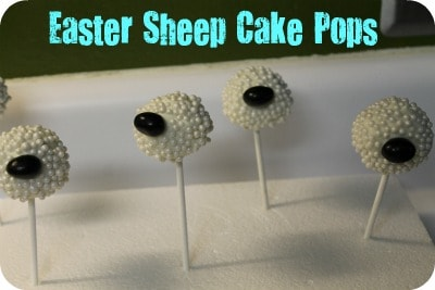 Easter Sheep Cake Pops