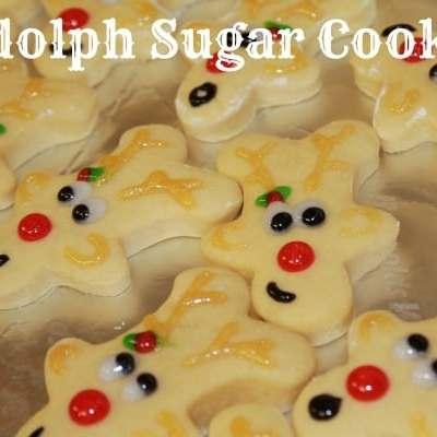 Rudolph Sugar Cookies Recipe