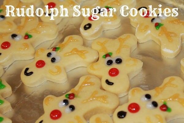 rudolph sugar cookies
