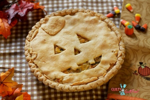 Healthy Halloween Chicken Pot Pie Recipe