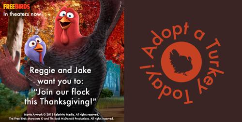 free birds adopt a turkey
