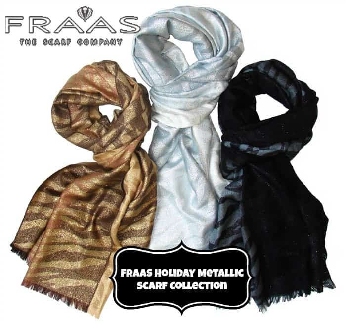 fraas holiday metallic scarf collection