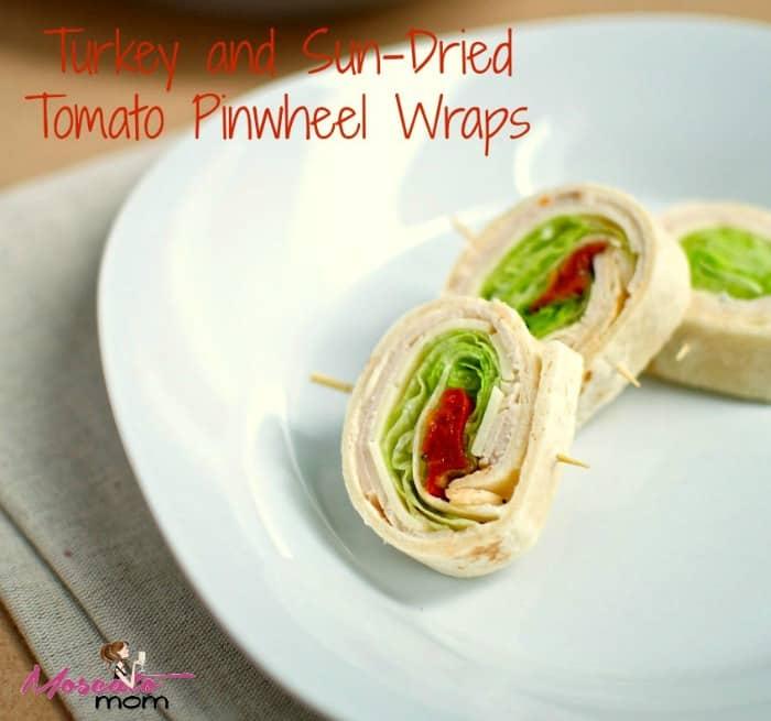 turkey tomato pinwheel wraps