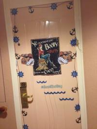 Cruise Ship Door Decorating Contest - Moscato Mom