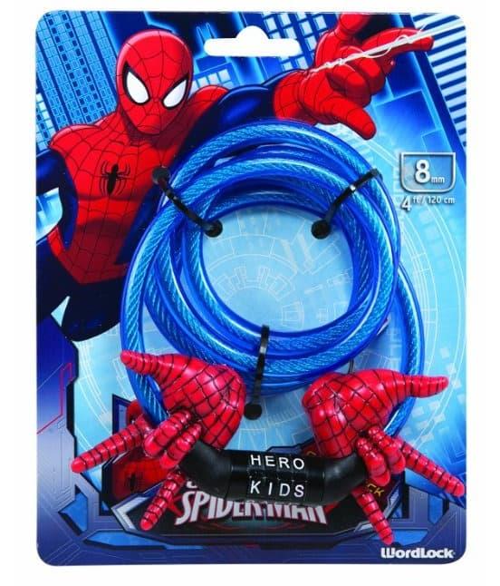 spiderman wordlock bicycle lock