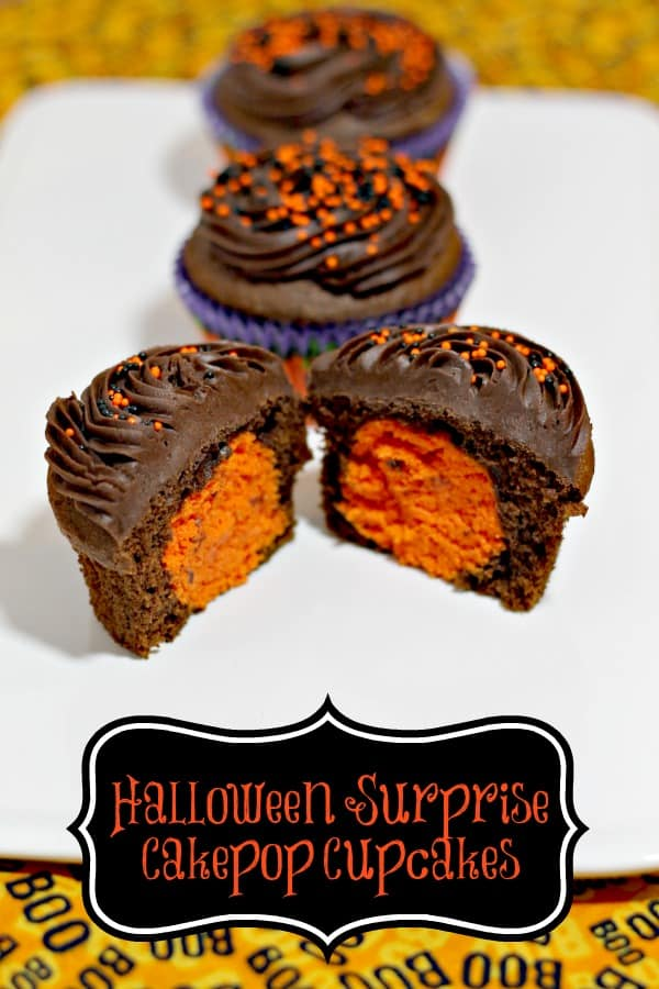 halloween surprise trick or treat cupcakes cakepops