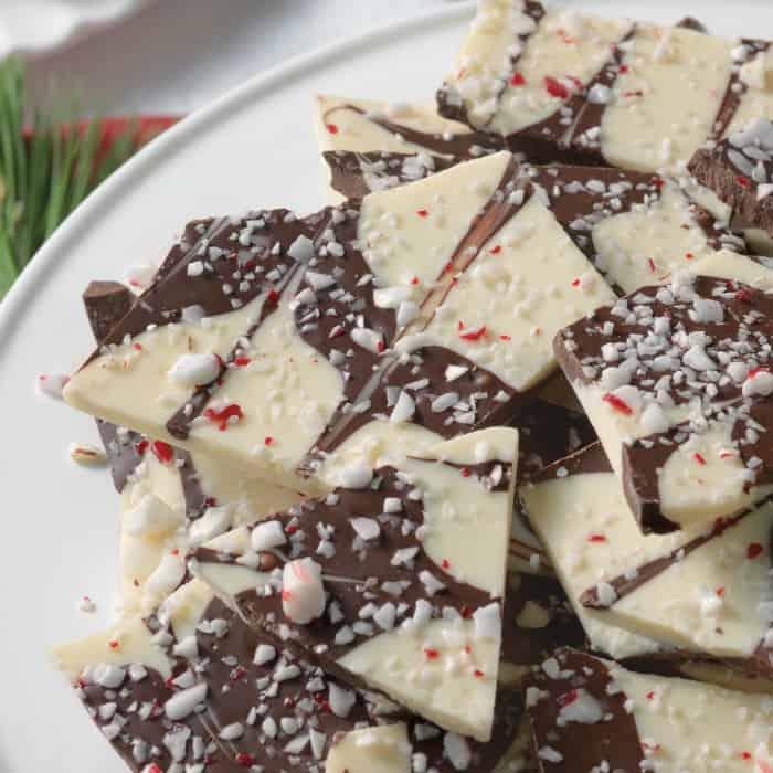 White & Dark Chocolate Peppermint Bark