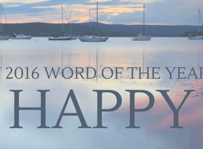 My Word Of The Year Is HAPPY