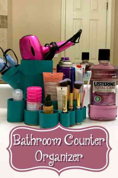 DIY Bathroom Counter Caddy